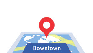 Windshield-Repair-Downtown-map
