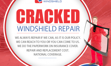 Cracked Windshield Repair Image